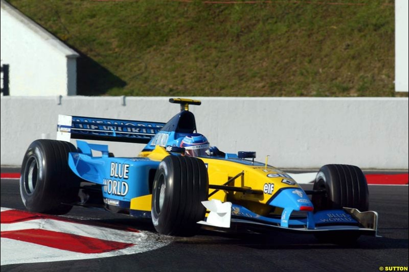 Jarno Trulli, Renault, Qualifying, French Grand Prix, Magny Course, France, July 20th 2002.