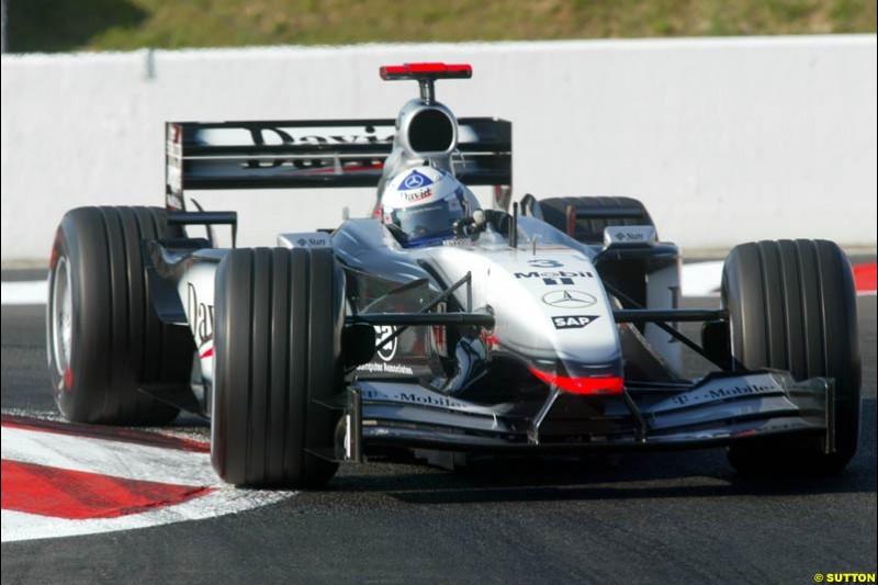 Kimi Raikkonen, McLaren, Qualifying, French Grand Prix, Magny Course, France, July 20th 2002.
