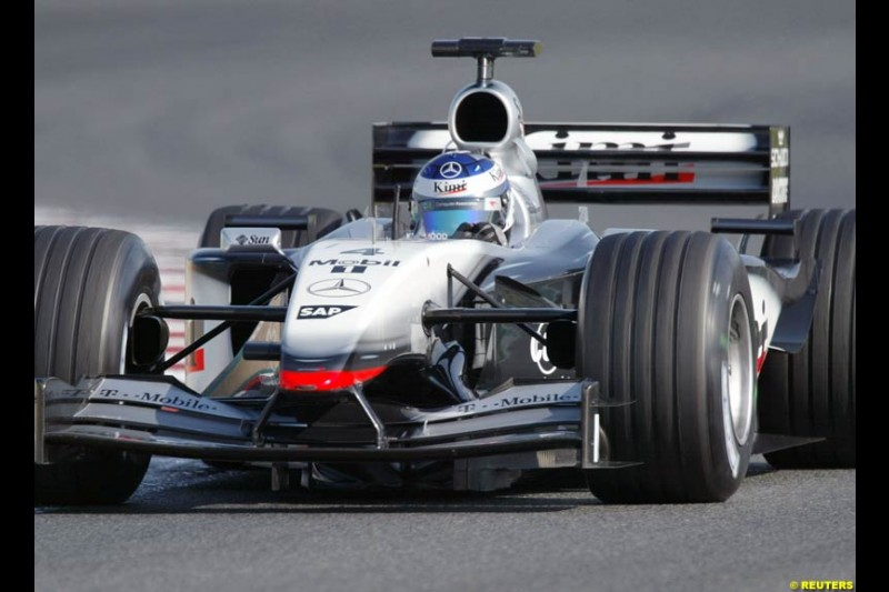 Kimi Raikkonen, McLaren. Qualifying for the French Grand Prix, Magny Cours, France, July 20th 2002.