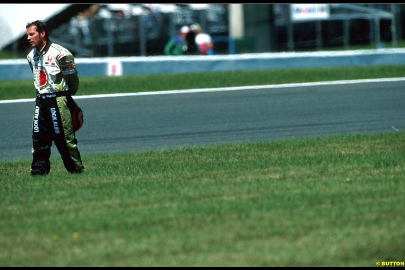 Jacques Villeneuve, British American Racing. French Grand Prix, Magny Cours, France, July 21st 2002.
