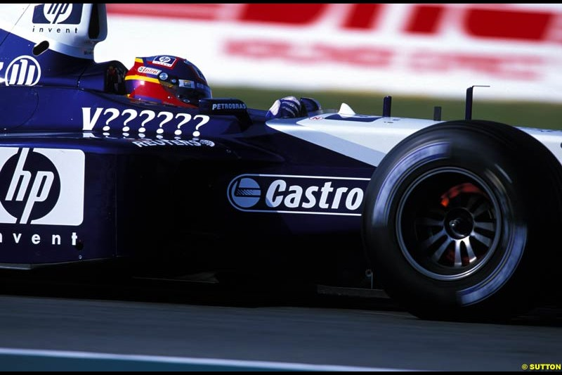 Juan Pablo Montoya. French Grand Prix, Magny Cours, France, July 21st 2002.