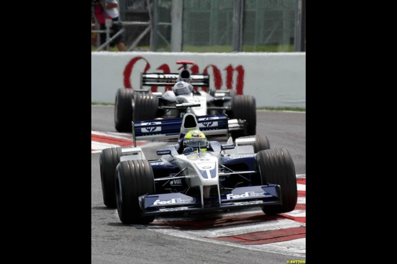 Ralf Schumacher, Williams. French Grand Prix, Magny Cours, France, July 21st 2002.