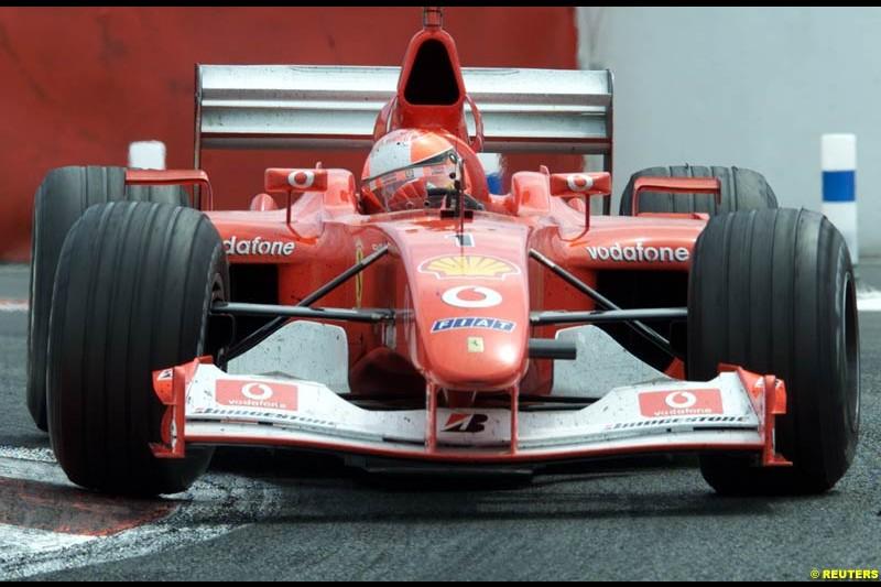 Michael Schumacher, Ferrari, French Grand Prix, Magny Cours, France, July 21st 2002.