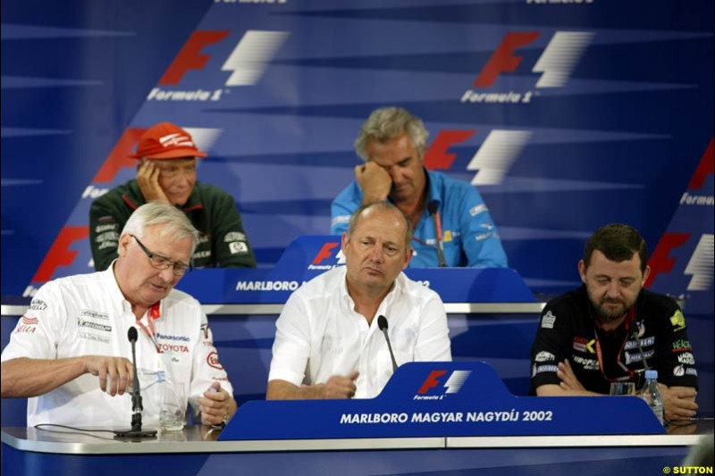 Friday's Press Conference, Hungarian Grand Prix, Hungaroring, Hungary, August 16 2002.