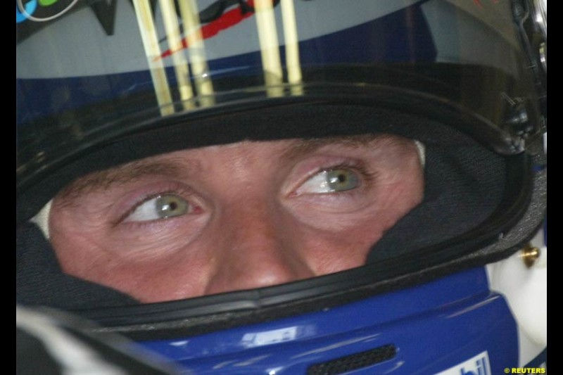 David Coulthard, McLaren, during Friday free practice for the Hungarian Grand Prix, Hungaroring, Hungary, August 16 2002.