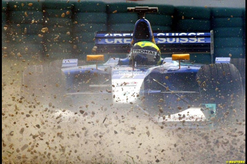 Felipe Massa, Sauber, during Friday free practice for the Hungarian Grand Prix, Hungaroring, Hungary, August 16 2002.