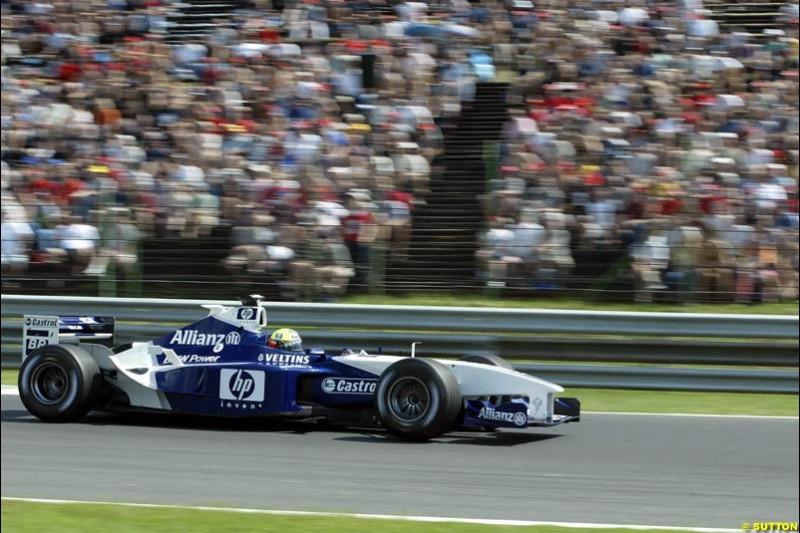 Ralf Schumacher, Williams, during Qualifying, Hungarian Grand Prix, Budapest, August 17 2002.