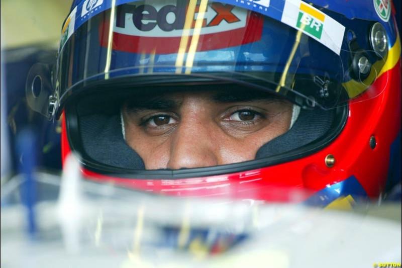 Juan Pablo Montoya, Williams, during Qualifying. Belgian Grand Prix, Spa-Francorchamps, Belgium, August 31st 2002.