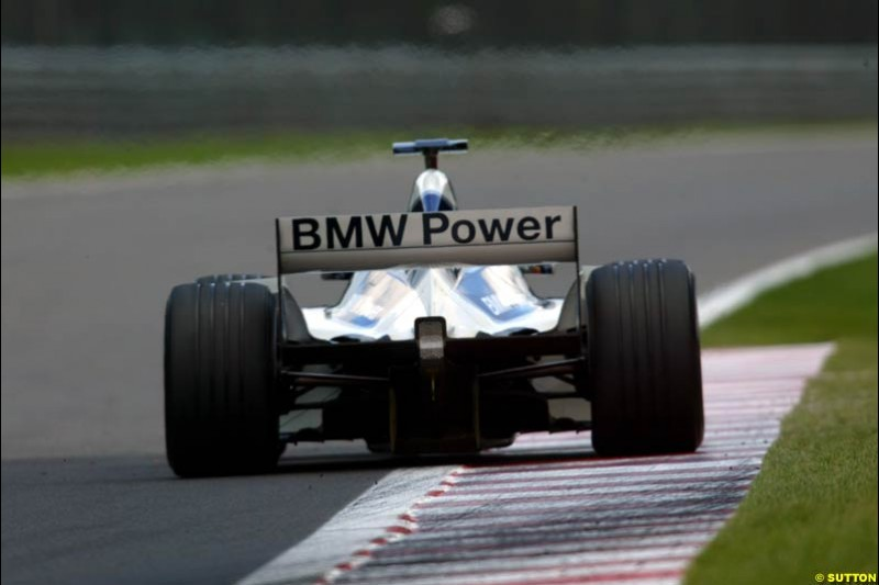 A Williams during Qualifying. Belgian Grand Prix, Spa-Francorchamps, Belgium, August 31st 2002.