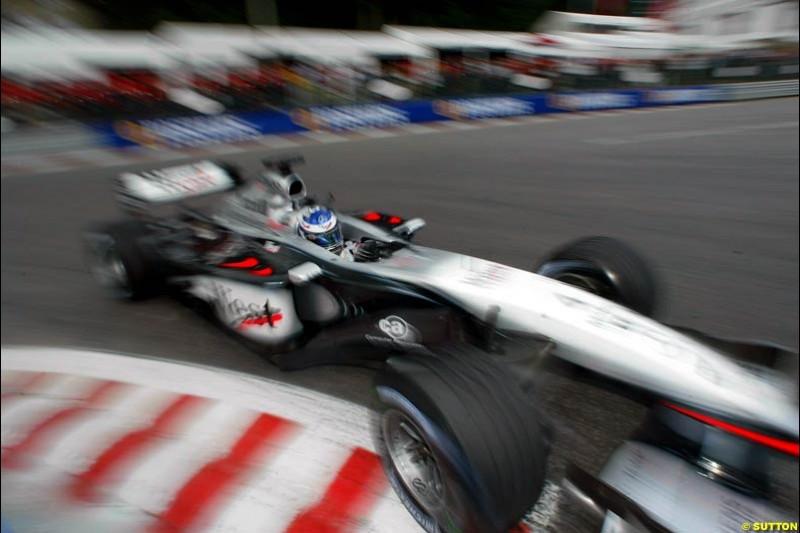 Kimi Raikkonen, McLaren, during Saturday Free Practice. Belgian Grand Prix, Spa-Francorchamps, Belgium, August 31st 2002.