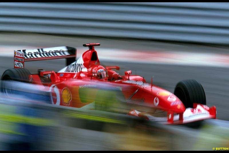 Michael Schumacher, Ferrari. Belgian Grand Prix, Spa-Francorchamps, Belgium, September 1st 2002.
