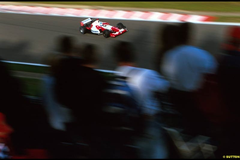Mika Salo, Toyota. Belgian Grand Prix, Spa-Francorchamps, Belgium, September 1st 2002.