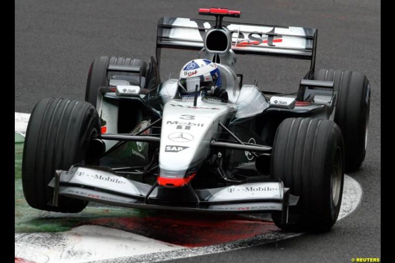 David Coulthard, McLaren. Belgian Grand Prix, Spa-Francorchamps, Belgium, September 1st 2002.