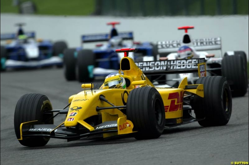 The Midfeld. Belgian Grand Prix, Spa-Francorchamps, Belgium, September 1st 2002.