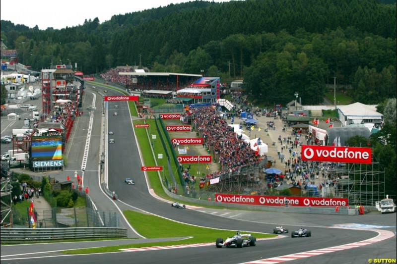 Eau Rouge. Belgian Grand Prix, Spa-Francorchamps, Belgium, September 1st 2002.
