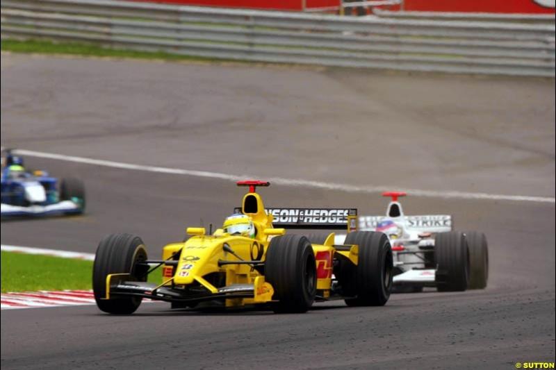The midfeld battle. Belgian Grand Prix, Spa-Francorchamps, Belgium, September 1st 2002.