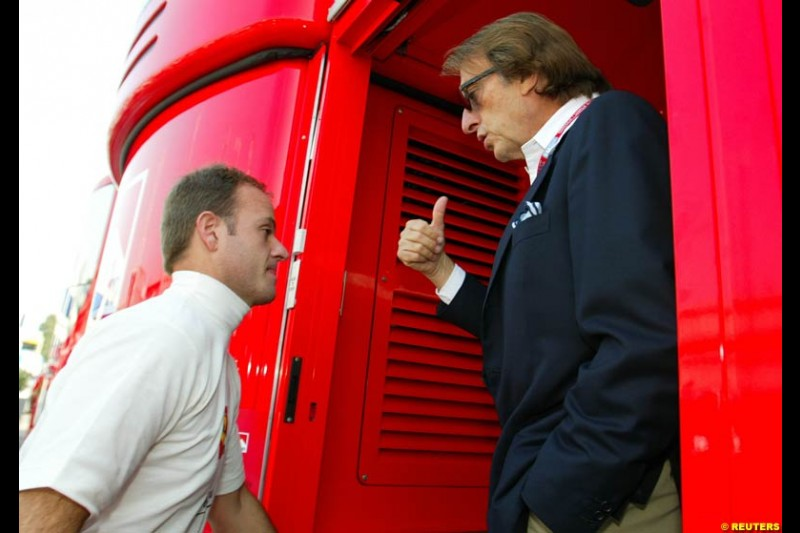 Saturday qualifying, the Italian Grand Prix, Monza, September 14th 2002.