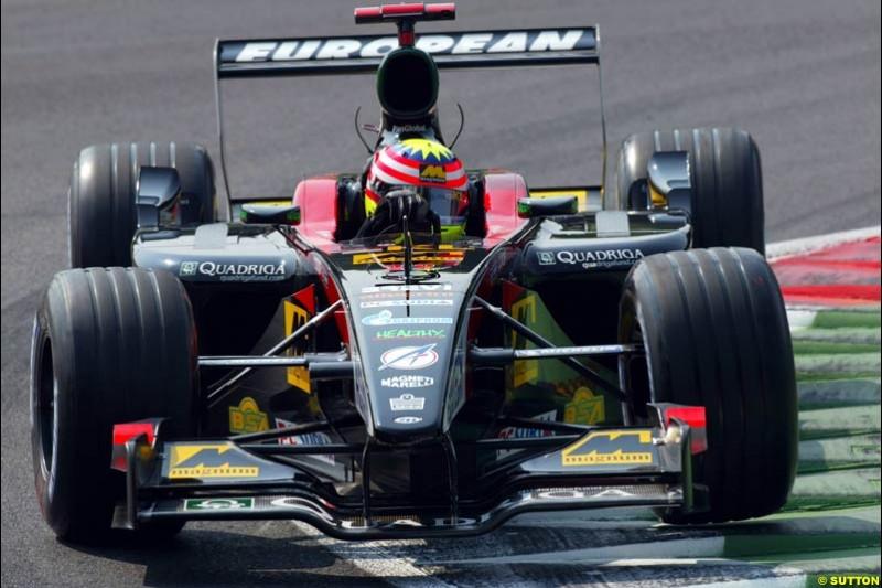 Alex Yoong, Minardi, during Qualifying. Italian Grand Prix, Monza, Italy. September 14th 2002.