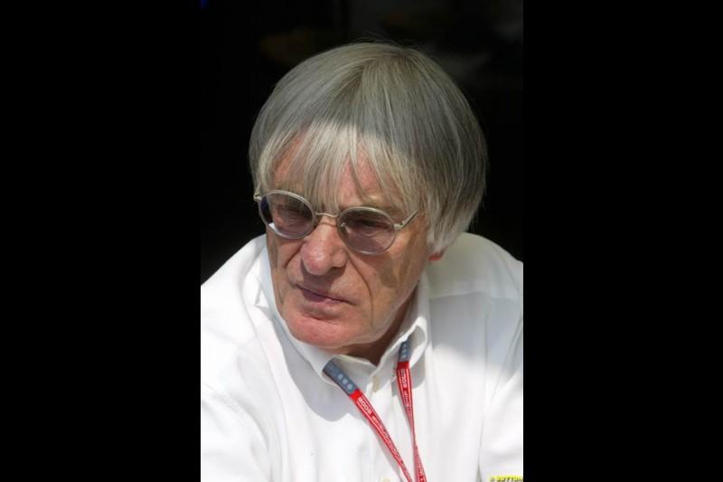 Bernie Ecclestone, F1 Supremo. Italian Grand Prix, Monza, Italy. September 14th 2002.