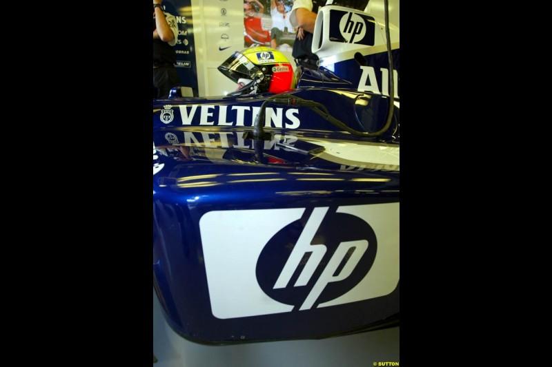 Ralf Schumacher, Williams, during Saturday Free Practice. Italian Grand Prix, Monza, Italy. September 14th 2002.