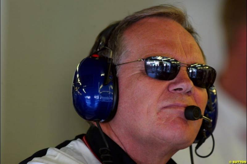 Patrick Head, Williams, during Saturday Free Practice. Italian Grand Prix, Monza, Italy. September 14th 2002.
