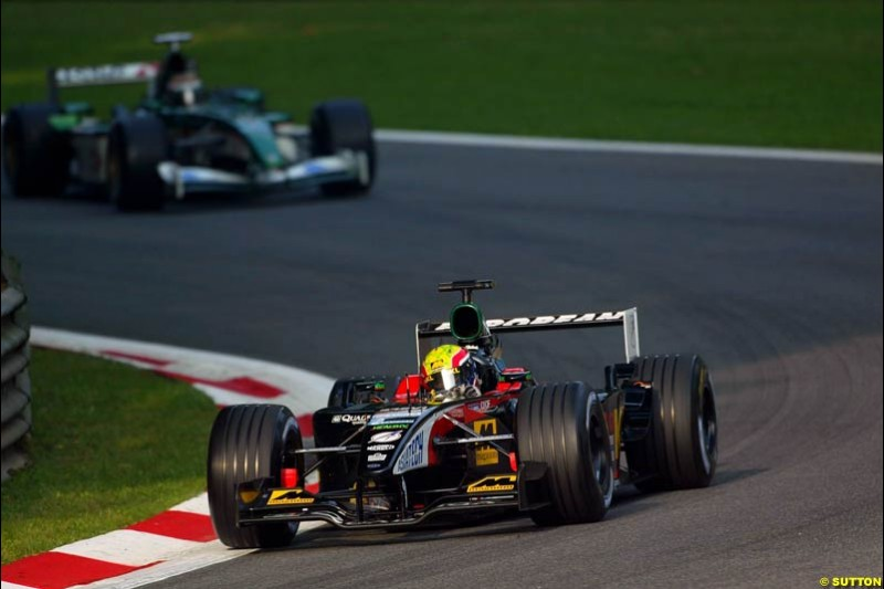 Alex Yoong, Minardi, during Saturday Free Practice. Italian Grand Prix, Monza, Italy. September 14th 2002.
