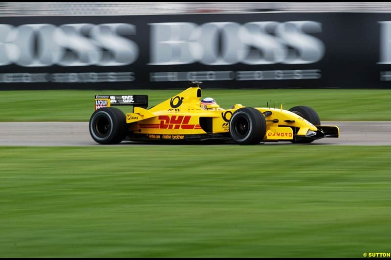 Friday Free Practice, United States GP, Indianapolis, September 27th 2002.