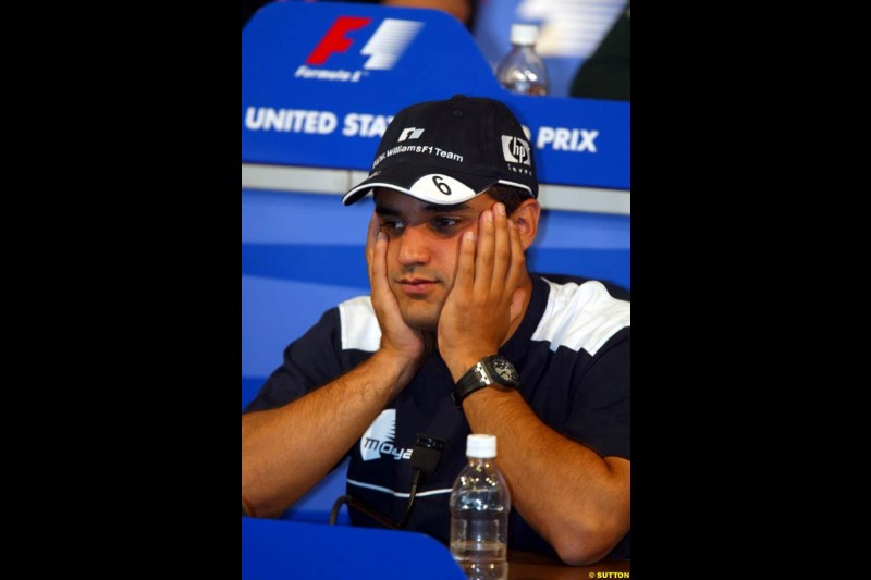 Thursday's press conference. United States GP, Indianapolis, United States. September 26th 2002.