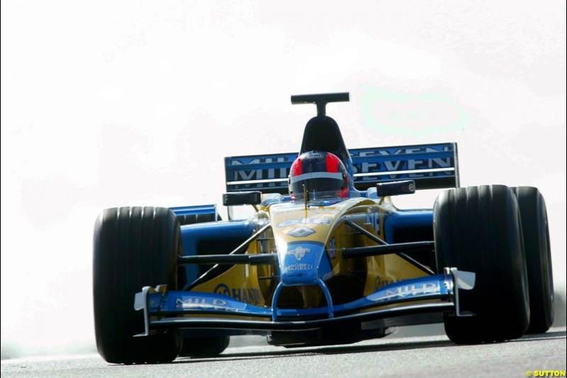 Oliver Gavin, Renault, Silverstone, England. October 3rd 2002