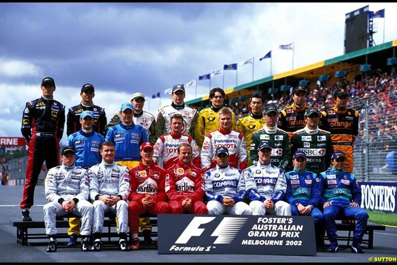 The start of season group photograph. Australian Grand Prix, Round 1.