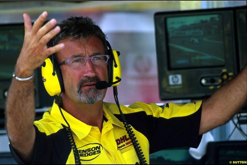 Eddie Jordan, Jordan, during the Hungarian Grand Prix, Round 13.