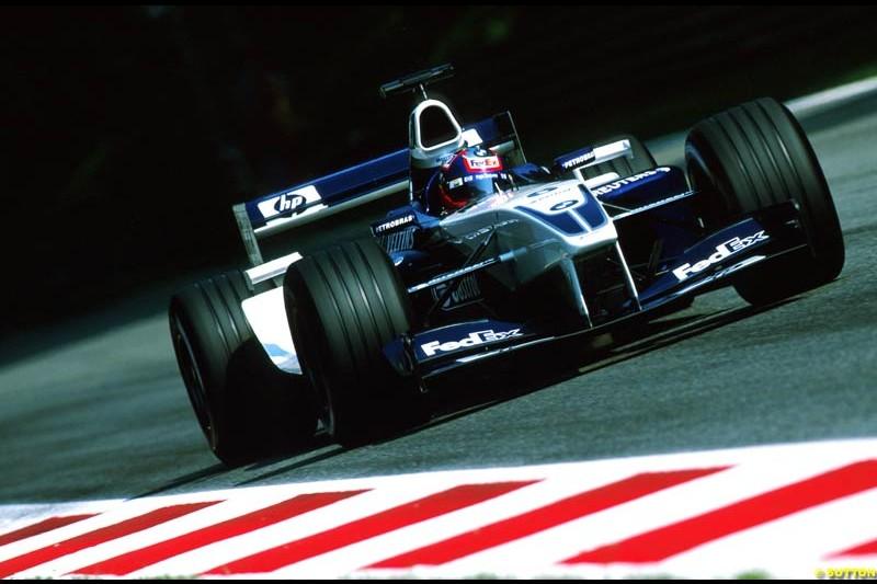 Juan Pablo Montoya, Williams, during the Italian Grand Prix, Round 15.