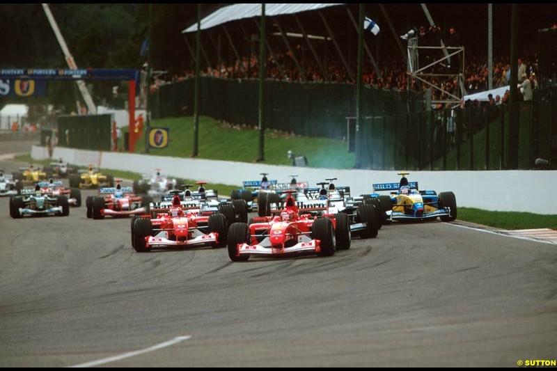 The start of the Belgian Grand Prix, Round 14.
