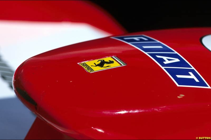 The nose of the Ferrari F12002. San Marino Grand Prix, Round 4.