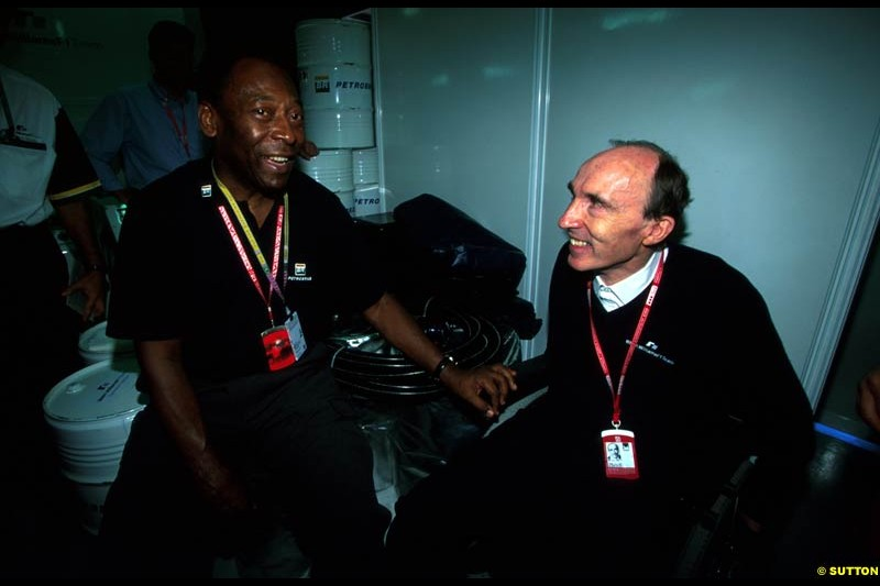 Frank Williams meets Pele. Brazilian Grand Prix, Round 3.