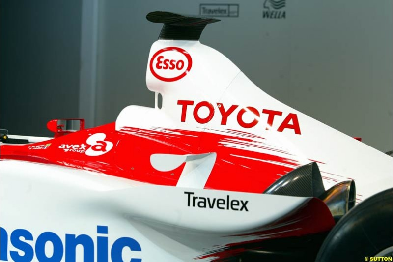 The TF103. Toyota F1 Launch. Circuit Paul Ricard, Le Castellet, France. January 8th 2003.