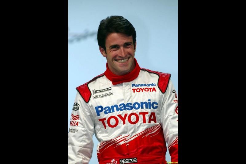 Ricardo Zonta, Toyota F1 Launch. Circuit Paul Ricard, Le Castellet, France. January 8th 2003.
