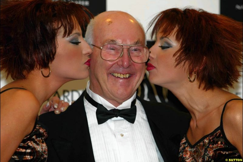 Murray Walker. The annual Grand Prix Ball. Birmingham, England. January 11th 2003.