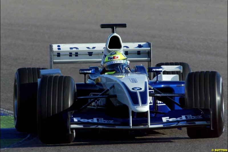 Ralf Schumacher, Williams, during testing at the Ricardo Tormo circuit. Valencia, Spain. 11th February, 2003.