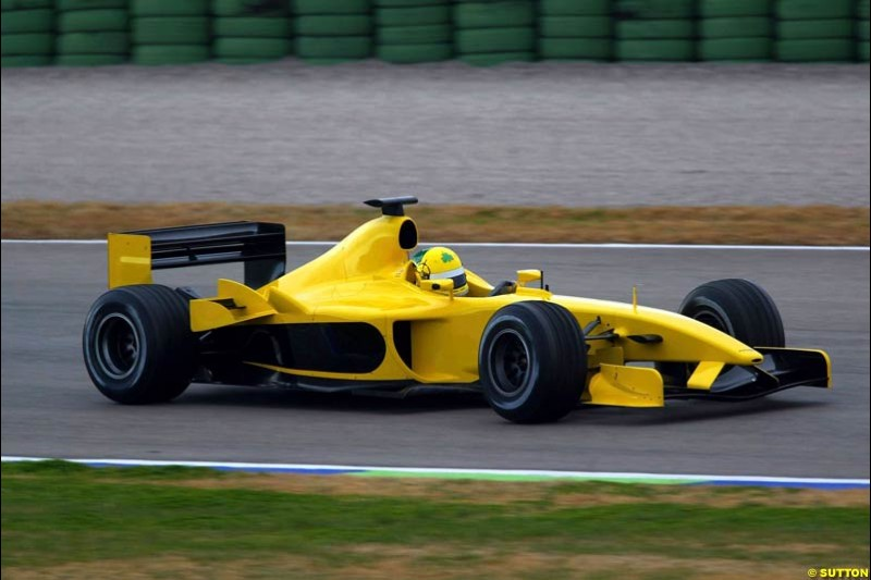 Ralph Firman made his debut with the Jordan team at the Ricardo Tormo circuit. Valencia, Spain. 10 February, 2003.