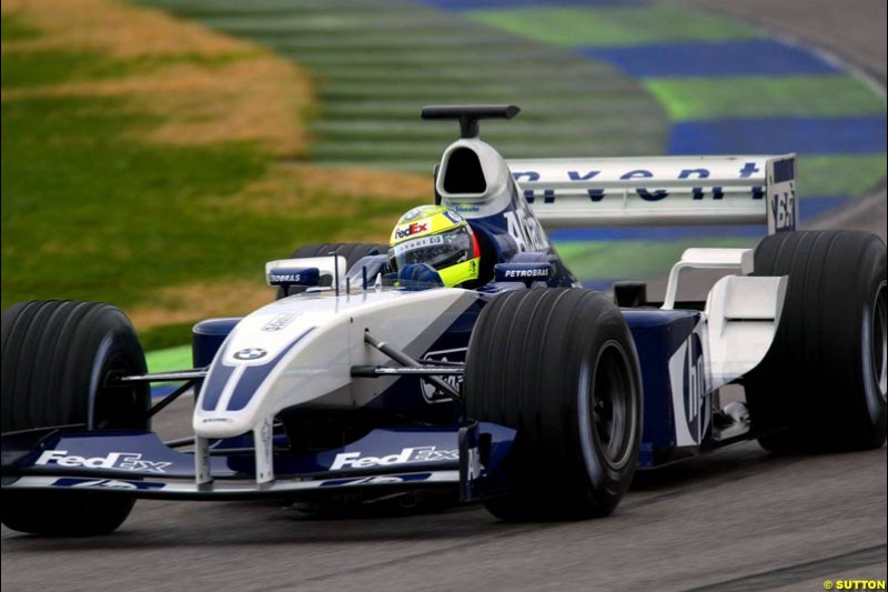 Ralf Schumacher, Williams, during testing at the Ricardo Tormo circuit. Valencia, Spain. 10 February, 2003.