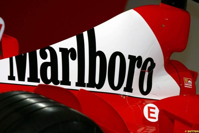 Ferrari launch the 2003 challenger, the F2003-GA, at Maranello, Italy. February 7th 2003.