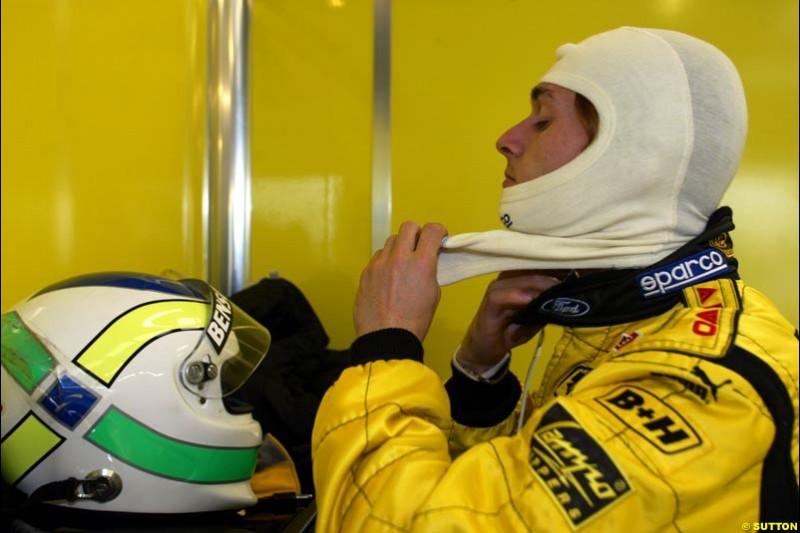 Giancarlo Fisichella, Jordan. Testing at Silverstone, England. 26th February 2003.