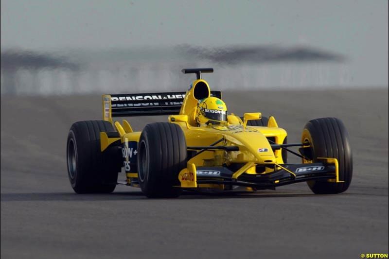 Ralph Firman, Jordan. Testing at Silverstone, England. 26th February 2003.