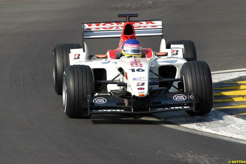 Jacques Villeneuve, BAR, during testing at Imola, Italy. 26th February 2003.