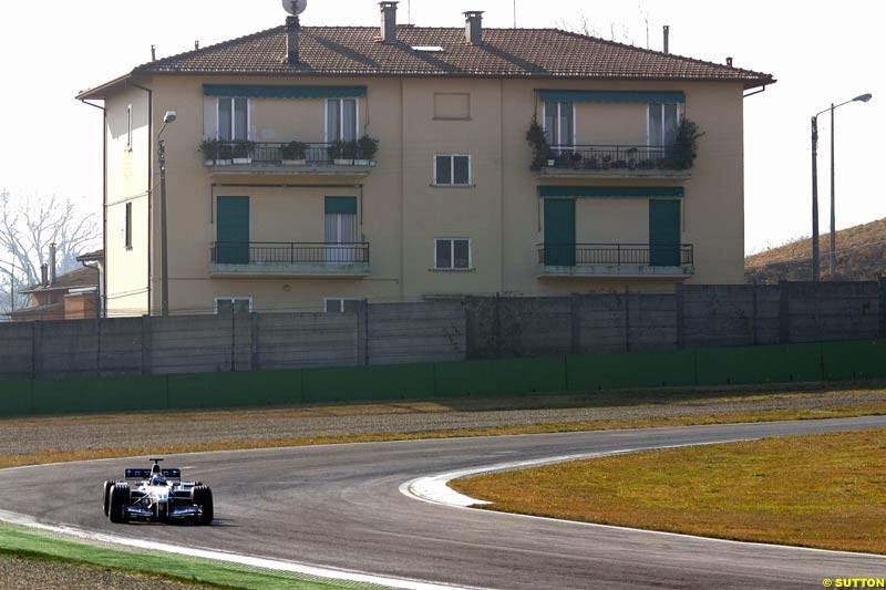 Marc Gene, Williams, during testing at Imola, Italy. 26th February 2003.