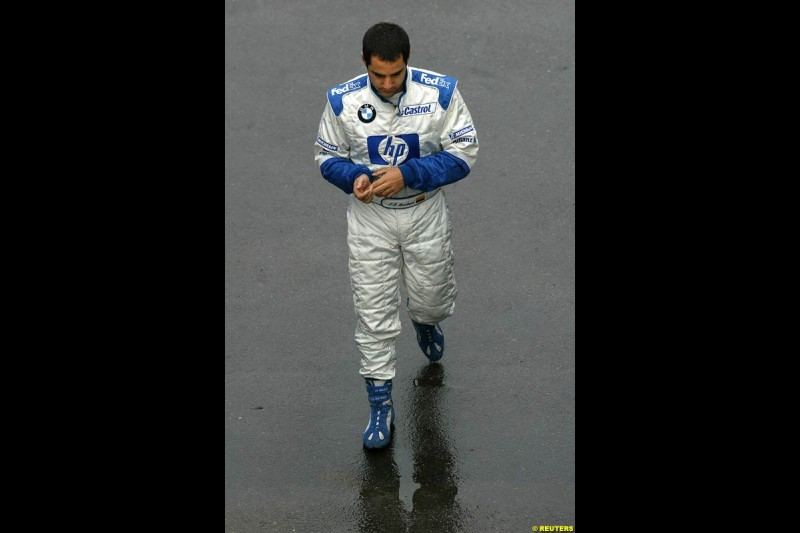 Juan Pablo Montoya, Williams, during testing at Jerez, Spain. 25th February 2003.