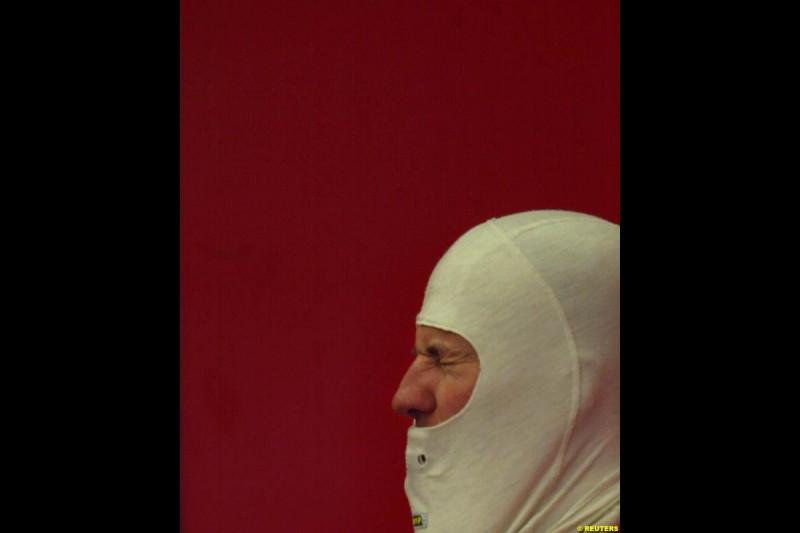 Michael Schumacher, Ferrari, during testing at Jerez, Spain. 25th February 2003.