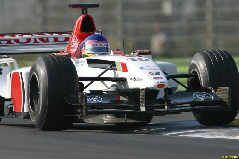 Jacques Villeneuve, BAR, during testing at Imola, Italy. 25th February 2003.