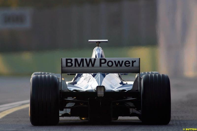 Marc Gene, Williams, during testing at Imola, Italy. 25th February 2003.